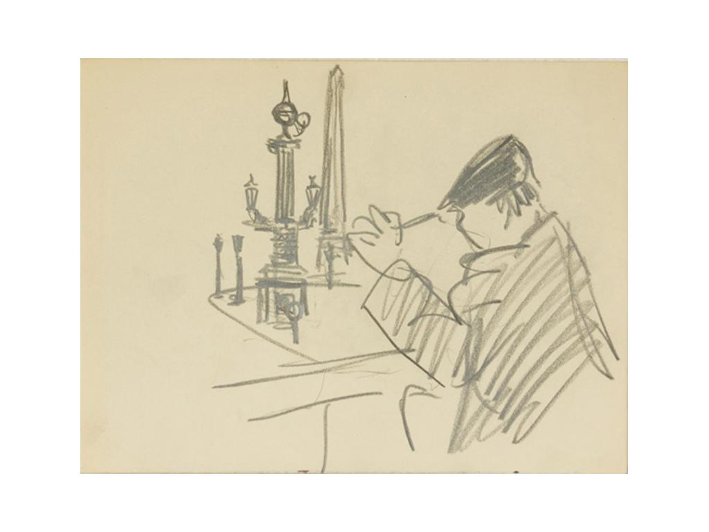 Günter Hildebrand, Skizze aus Paris, Bleistift, 1948-52
