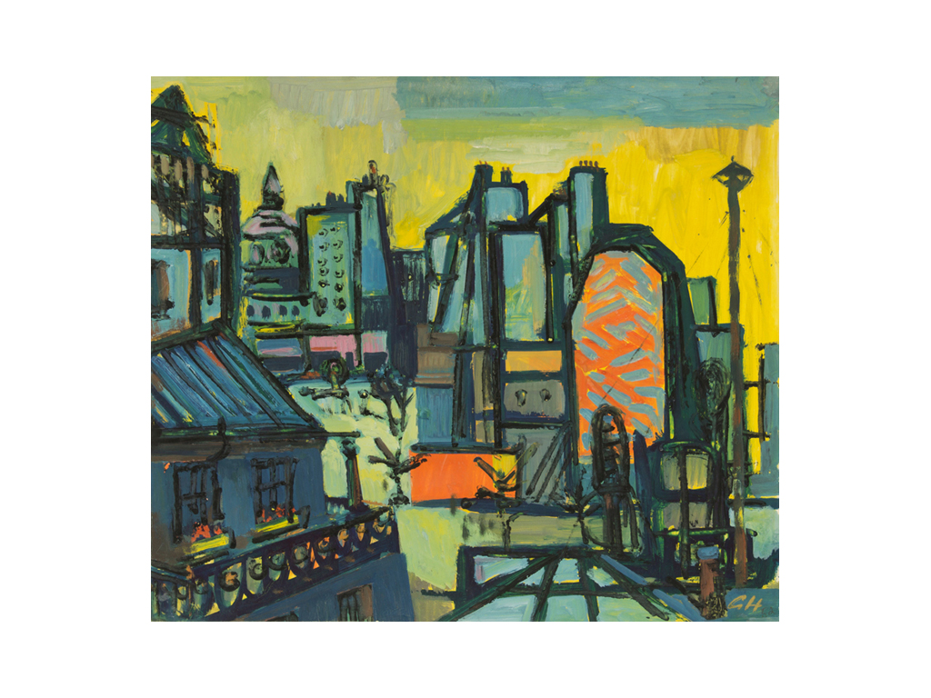 Günter Hildebrand, Paris, Tempera, 1952
