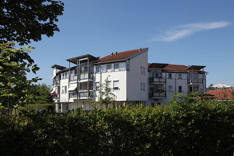 Martinshaus - Blick auf die betreuten Wohnungen