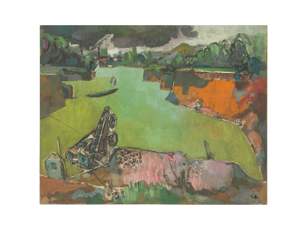 Günter Hildebrand, Baggersee, Öl, 1956-62