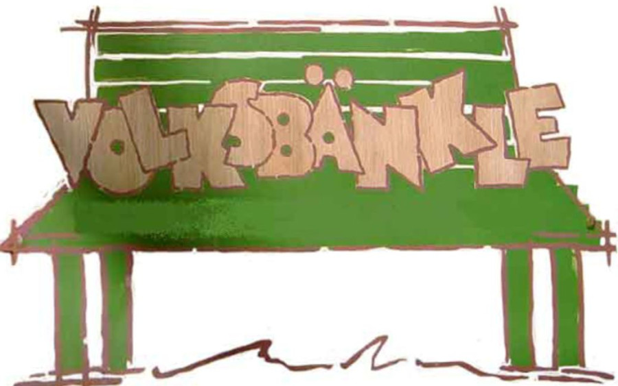 Volksbänkle (Skizze Bank)