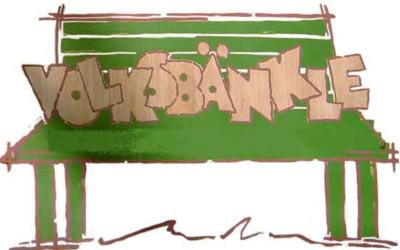 Volksbänkle (Skizze von grüner Bank)
