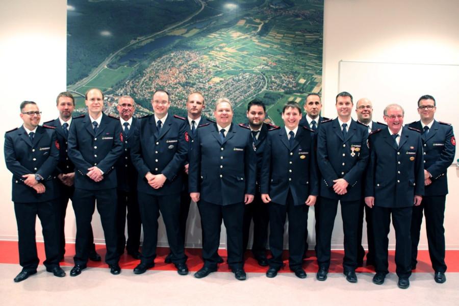 Die neu Gewählten der Freiwilligen Feuerwehr Kirchentellinsfurt